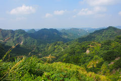 Nice view of mountain landscape in Taiwan Stock Image