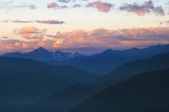 Nice view of the mountains in the evening light. Royalty Free Stock Photo