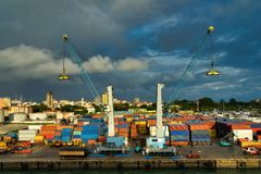 Nice View Of Conakry Harbour In Guinea Stock Images