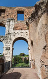 Nice View Through Old Roman Arch Stock Photos