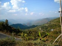 Nice view outside the city from burma. At a bus tour Stock Photo
