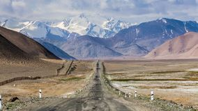 Nice view of Pamir in Tajikistan. Beautiful view of Pamir Highway in Tajikistan Royalty Free Stock Photo