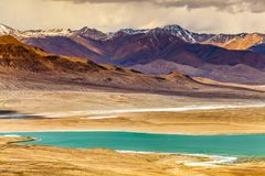 Nice view of Pamir in Tajikistan. Beautiful view of  Pamir Mountains in Tajikistan Stock Images