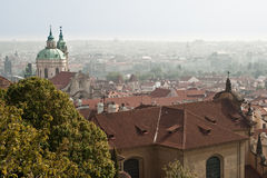 Nice view panorama of Prague.. An example of the beautiful architecture of Prague, Czech Stock Photography