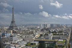 Nice view of Paris on Eiffel tower. Panorama of Paris, the Eiffel tower, the French metropolis Paris at a glance Royalty Free Stock Image