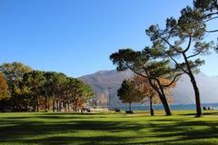 Nice view of the park. Nice view of the park from the Lake Garda Royalty Free Stock Photo
