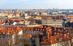 Nice view on Prague city Stock Photos