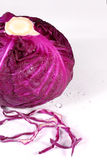 Nice view of purple cabbage. On the white background Royalty Free Stock Images
