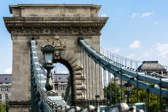 Nice view of some of the bridges from Budapest, nice weather and amazing place. Over the Danube River stock photo