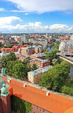 Nice view of Stockholm from City hall stock photography