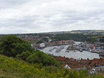 nice view to a bay in England royalty free stock photo