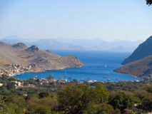 Nice view to karpathos. In greece Royalty Free Stock Images