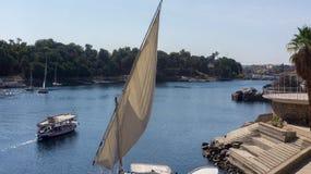 Nice view to Nile river Stock Photos