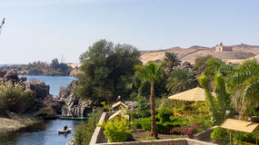 Nice view to Nile river Royalty Free Stock Images