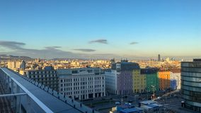 nice view to the vienna city stock photos