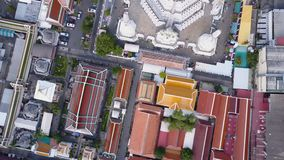 Nice view from the top of houses with tiled roofs. Top view of modern and old houses of the city. Cityscape of town and. City from top view. Old and modern Royalty Free Stock Photography