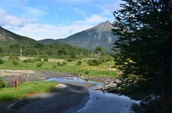 One of the most beautiful place in Argentina-Tierra del Fuego. Nice view from The Train of the end of the world Royalty Free Stock Photography