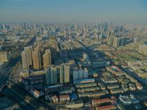 Tianjin View from Radio Tower stock photography