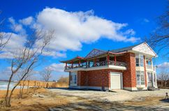 Nice view of villa in Guaiwan village. Taken at Guiwan village, Ningan county, Heilongjiang province , NE China . the day was sunny and clear , a sun-lit weather Royalty Free Stock Photography