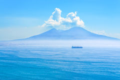 Nice view of the volcano Mount Vesuvius Royalty Free Stock Photos