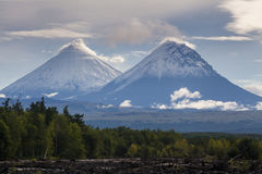 Nice view of the volcanoes Stock Images