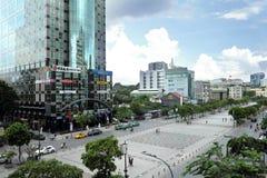 Nice View from walking street Pho di bo. In Sai Gon, Viet Nam Royalty Free Stock Photos