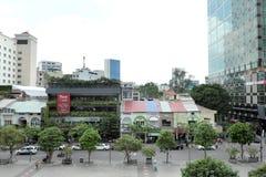 Nice view of walking street. In Sai Gon, Viet Nam Royalty Free Stock Image