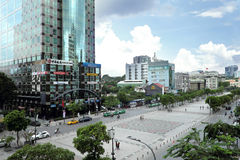 Nice view from walking street. A nice view from walking street, SaiGon, Viet Nam Stock Photos
