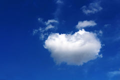 Nice view of white cloud Stock Photos