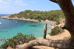 Nice views of Ibiza Saint Antoni. Royalty Free Stock Images