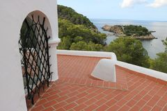 Nice views of Ibiza Saint Antoni. Summer time stock photography