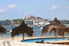 Nice views of Ibiza Saint Antoni. Summer time stock photos