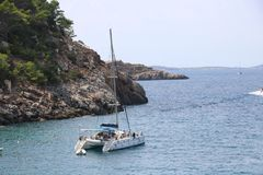 Nice views of Ibiza Saint Antoni. Royalty Free Stock Photos
