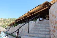 Nice views of Ibiza Saint Antoni. Summer time stock photo