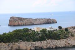 Nice views of Ibiza Saint Antoni. Summer time stock images