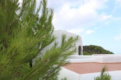Nice views of Ibiza Saint Antoni. Summer time royalty free stock photo