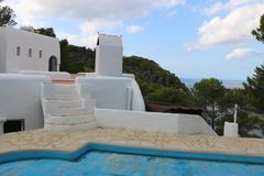 Nice views of Ibiza Saint Antoni. Summer time royalty free stock photography