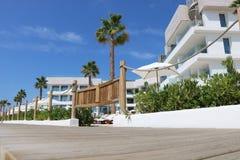 Nice views of Ibiza Saint Antoni. Summer time stock image