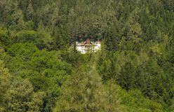 A nice villa inside the forest. Somewhere in Austria stock photos