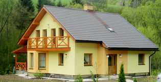 Nice village house Stock Images
