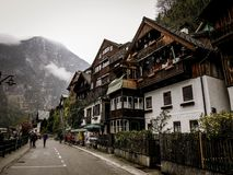 Nice village view at Hallstatt royalty free stock photos