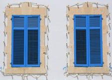 Nice vintage blue windows Royalty Free Stock Photo