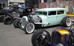 Nice vintage  car show in city Dallas Stock Photography