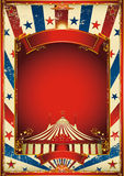 Nice vintage circus background with big top royalty free illustration