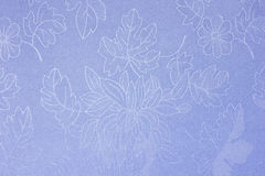 Nice vintage decorative background. With blue fabric texture, flowers Stock Images