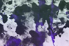 Nice vintage purple randomly painted canvas, fabric with color paint spots and blots texture for design purposes. Nice grunge purple randomly painted canvas stock images