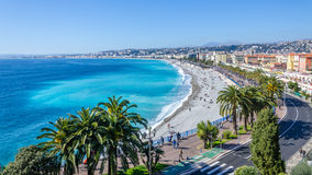 Nice visit card view on the bay of Angels, France Stock Photo