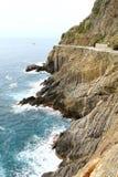 Nice walk on the cliffs Stock Photos