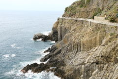 Nice walk on the cliffs. Nice walk on the clifs in Cinque Terre Stock Image