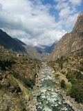Inca trail 2016 stock photography